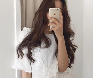 girl, ulzzang, and white image