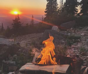 travel, camping, and fire image