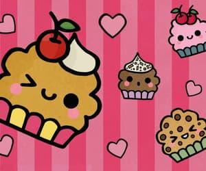 cherry, chocolate, and cupcakes image