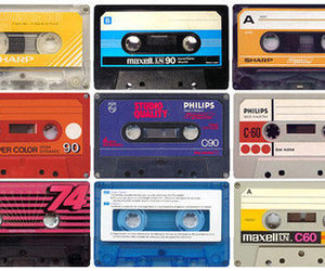 music, 80s, and casette image