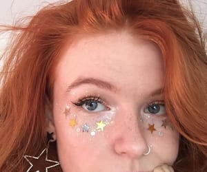 stars, girl, and earrings image