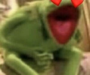 heart, kermit the frog, and mood image