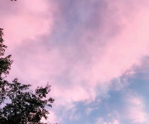 pink, sky, and background image