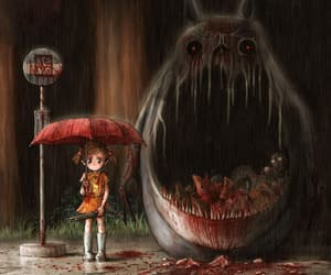 totoro, anime, and blood image