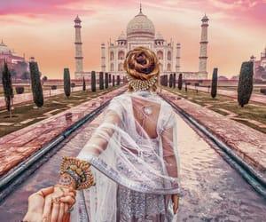 india, taj mahal, and travel image