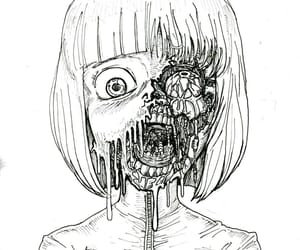 art, drawing, and horror image