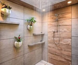 bathroom, shower, and decoration image