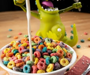 cereal, milk, and rugrats image