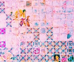 pink, theme, and tiles image