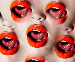 kaleidoscope, lips, and lipstick image
