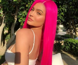 beauty, glow, and long pink hair image