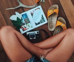 accessories, sandals, and beach image