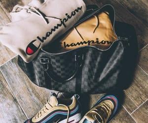 bag, champion, and fashion image
