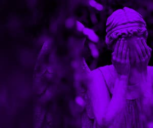 aesthetic, purple, and angel image