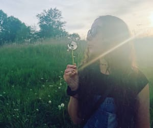 dandelions, nature, and overalls image
