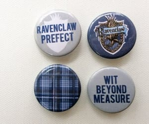 badge, blue, and harry potter image