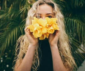 beauty, yellow, and blonde image