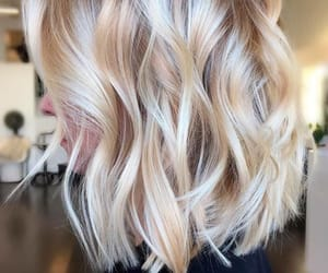 blonde, curls, and hairstyles image