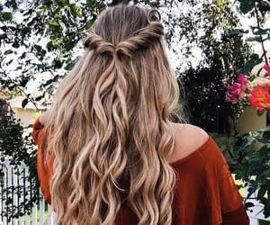 blonde, curls, and curly hair image