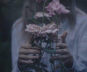 flowers, grunge, and dark image