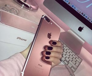 iphone, pink, and apple image