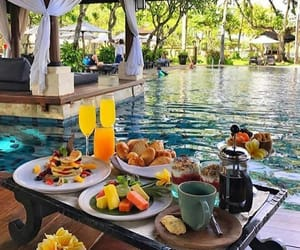 breakfast, food, and pool image