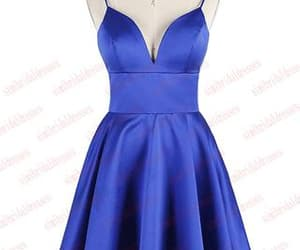 short dress and royal blue dress image