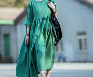 etsy, green dress, and long dress image