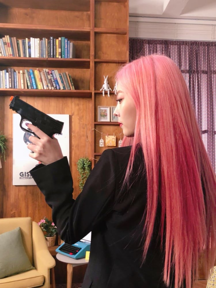 Top15 Kpop Female Idols With Pink Hair On We Heart It