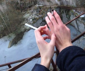 cigarette, hands, and grunge image