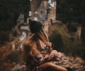 beautiful, girl, and places image