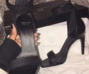 shoes, Versace, and heels image
