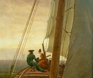 art, Friedrich, and sailing image