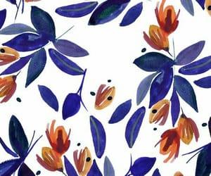 Bleu, blue, and Fleurs image