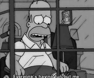 the simpsons, homer, and sad image
