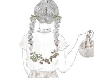 fashion, 女の子, and flower image