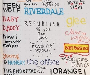 glee, thevampirediaries, and orangeisthenewblack image