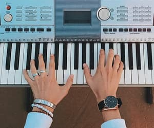 aesthetic, keys, and piano image