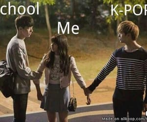kpop, school, and funny image