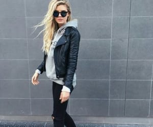 fashion, leather jacket, and inspiration image