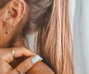blonde, nails, and earrings image