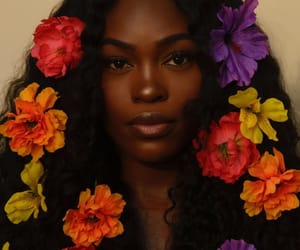 flowers, beauty, and melanin image