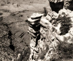 black and white, heights, and grand canyon image