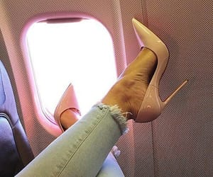 plane, style, and shoes image