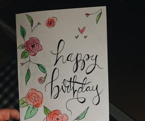 art, birthday card, and card image