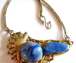 etsy, blue necklace, and ethnic necklace image