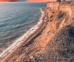 nature, rock, and sea image