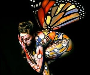 belleza, body painting, and colores image