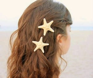 hair, hairstyle, and starfish image