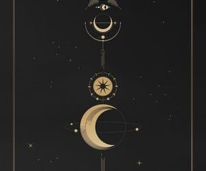 luna, moon, and planetas image